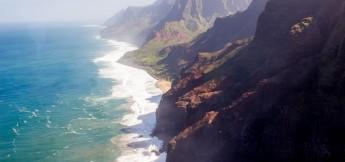 Blue Hawaiian Kauai helicopter tours of Na Pali coast
